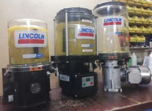 Lincoln Pumpen; für  Fett und Öl. Bis 350Bar bis 30 Pumpenabgänge.